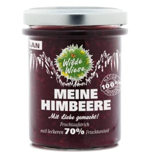 meine wilde wiese Himbeer Himbeere Fruchtaufstrich bio made in germany
